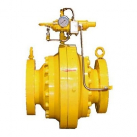 Self-operated axial flow pressure regulating control valve