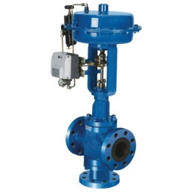 Three-way control valve