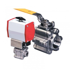 Three-piece high pressure ball valve