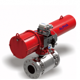 Pneumatic Flanged High Pressure Ball Valve