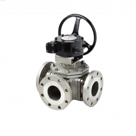 Three-way Turbine Ball Valve