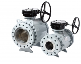 Three-stage Turbine Ball Valve